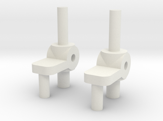 CarMoWorld Race-tin Knuckles- Front Suspension in White Natural Versatile Plastic