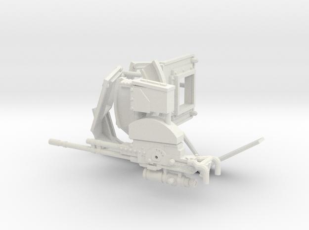 1:16 TUSK gunner parts in White Natural Versatile Plastic