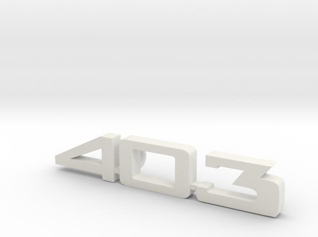 keychain peugeot 403 in White Natural Versatile Plastic