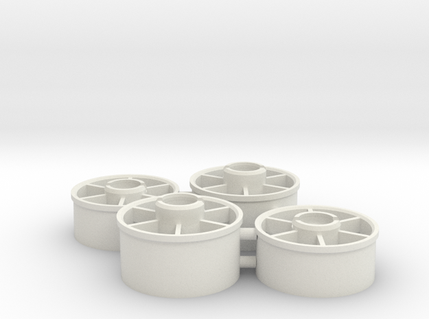 Mini-z_20mm_wheelset in White Natural Versatile Plastic