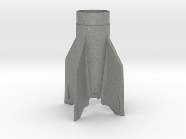 V-2 Fin Unit BT55 for 18mm motors in Gray PA12