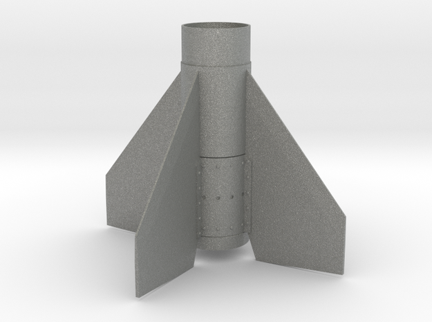 IQSY Tomahawk Fin Unit BT50 for 18mm motors in Gray PA12