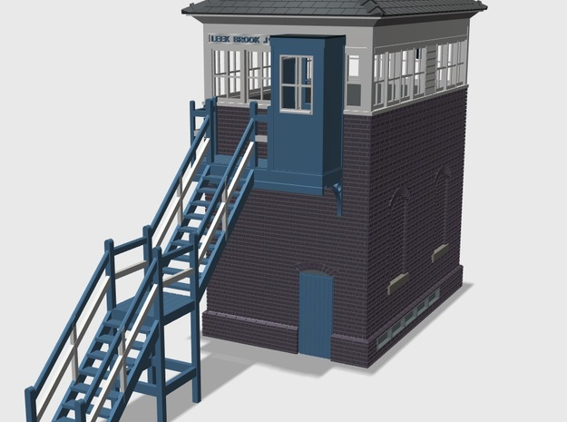 LBJ41B Leek Brook Junction Signal box in White Natural Versatile Plastic