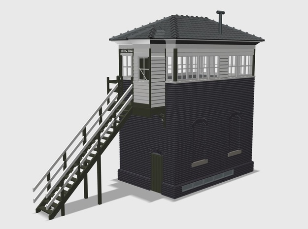 LB41A Leek Brook Junction Signal Box in White Natural Versatile Plastic