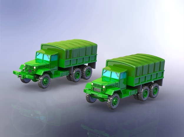 M125 & M125A1 Heavy Trucks 1/220 in Smooth Fine Detail Plastic