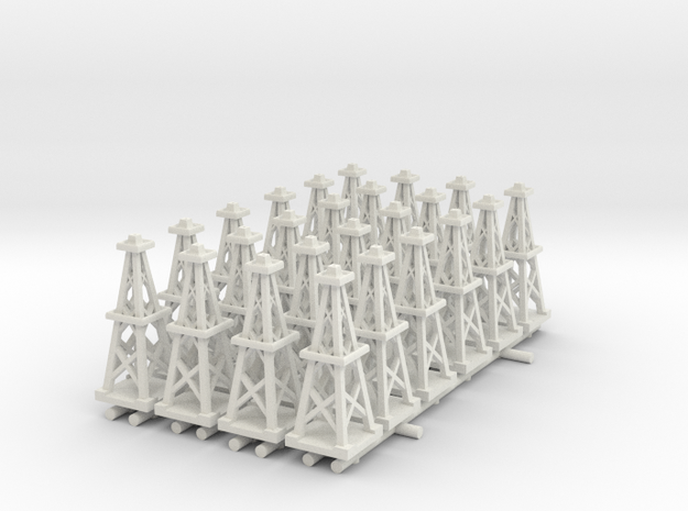 Oil Derrick (x24) in White Natural Versatile Plastic