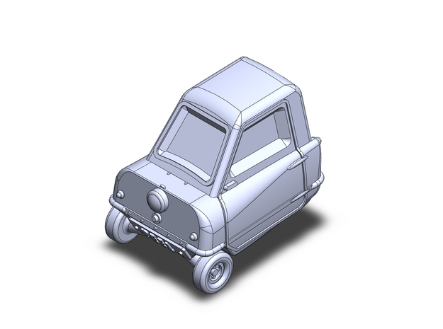 Peel P50 microcar in Smoothest Fine Detail Plastic: 1:87 - HO