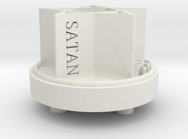 Pentagram Cap in White Natural Versatile Plastic