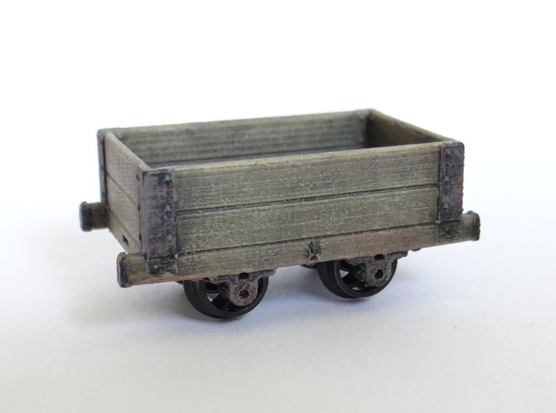 Aberllefenni Box Wagon (x3) in Smooth Fine Detail Plastic
