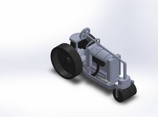 1920 FORDSON ROAD ROLLER in Smooth Fine Detail Plastic
