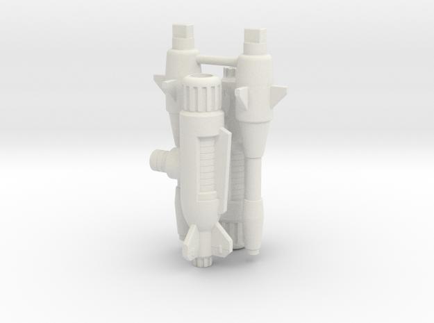 Thrust Weapons in White Natural Versatile Plastic
