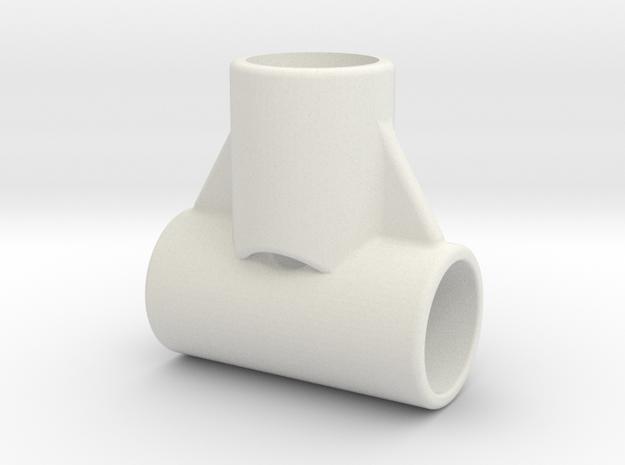 Landing Skid T V3x16 in White Natural Versatile Plastic