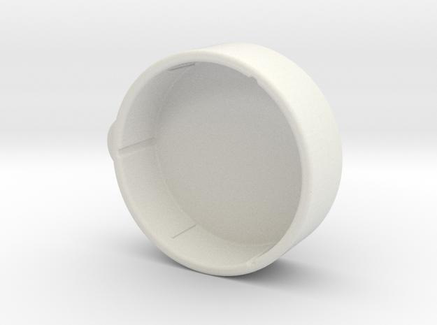 Gimbal Lens Cap in White Natural Versatile Plastic