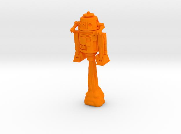Slicerbot pose 2 in Orange Processed Versatile Plastic