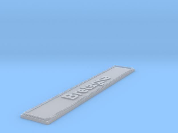 Nameplate Bretagne in Smoothest Fine Detail Plastic
