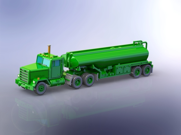 M915 Tractor w. M969 Tanktrailer 1/160 in Smooth Fine Detail Plastic