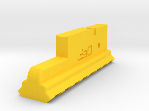 Lower Picatinny Rail for AUG (8-Slots) in Yellow Processed Versatile Plastic