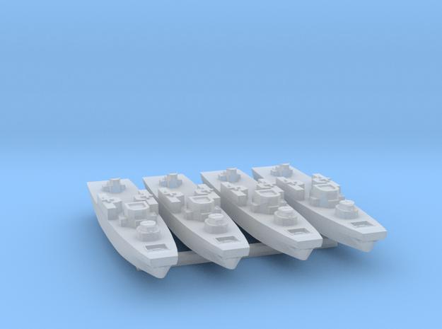 4pk Fairmile H class LCL-L2 WW2 1:1200 FUD in Smooth Fine Detail Plastic
