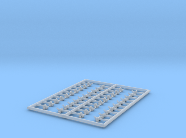 1/700 37mm/50 Model 1933 (40x) in Smooth Fine Detail Plastic