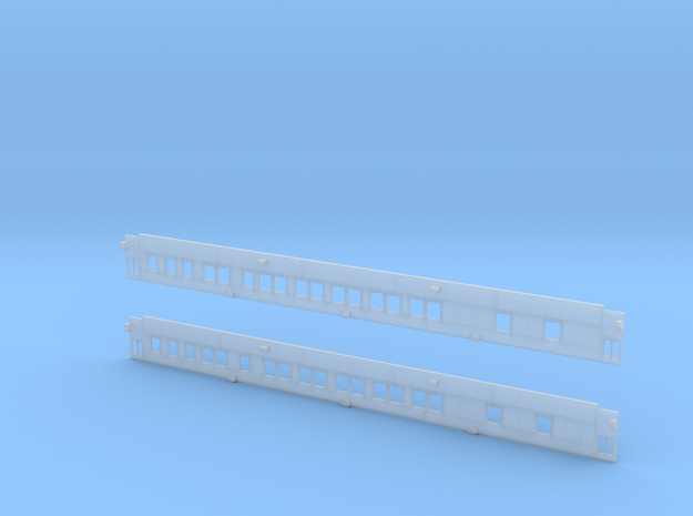 10-2 Pullman (Plan 3584) - Car Sides in Smooth Fine Detail Plastic