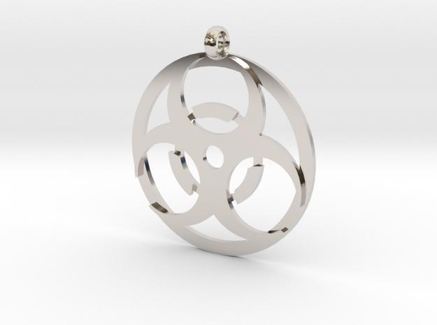 Biohazard necklace charm