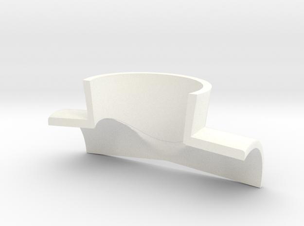 Negator Collar in White Processed Versatile Plastic