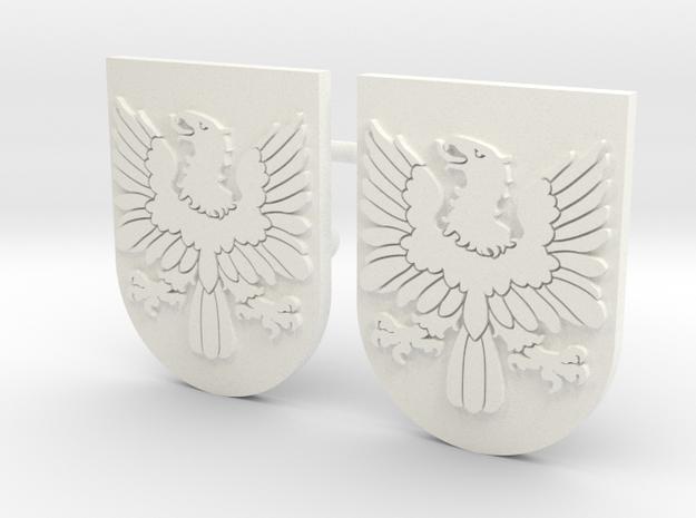 AVEZEDO SHIELD #1X2  in White Processed Versatile Plastic