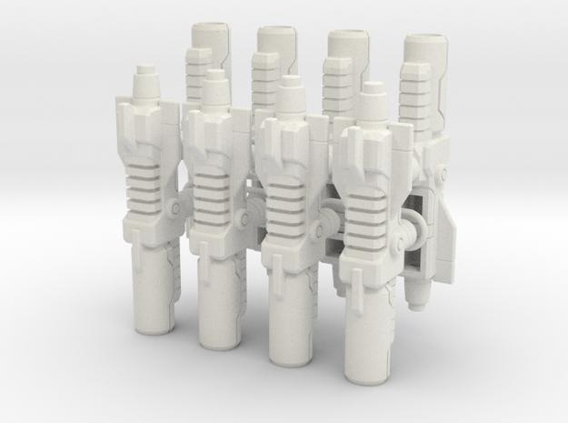 Seeker Weapons - Pistols set of 4 in White Natural Versatile Plastic