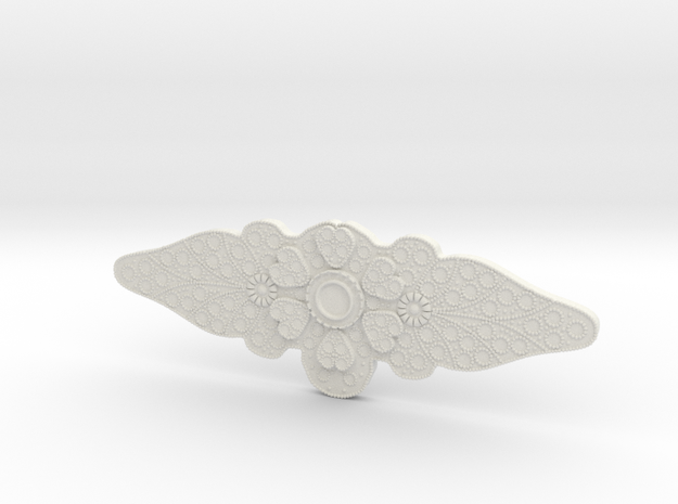 Padme Purple Senate side brooch in White Natural Versatile Plastic