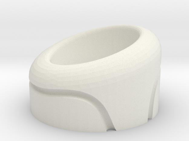 Naboo Helmet greeble (Padme, Naboo pilot, ...) in White Natural Versatile Plastic