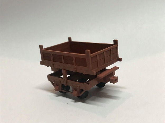 Virginia & Truckee Side Dump Ore car (Ho Scale) in Smooth Fine Detail Plastic: 1:87 - HO