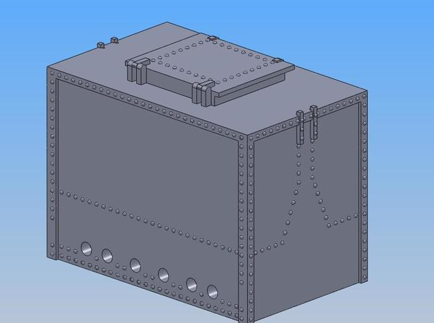 PRR DB4A Container O Scale in Smooth Fine Detail Plastic