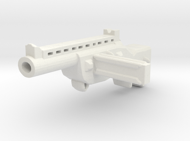 Submashine Gun SMG in White Natural Versatile Plastic