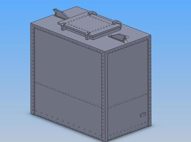 PRR HB1A Container O Scale in Smooth Fine Detail Plastic