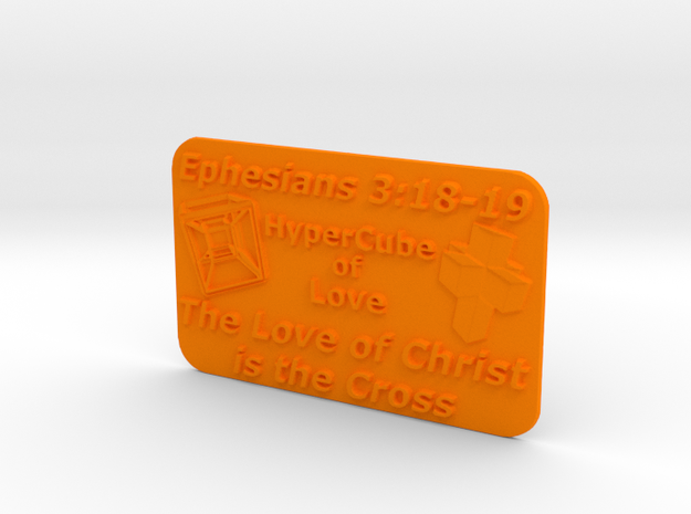 Plaque HyperCube  (60 x 36 mm) 3d printed