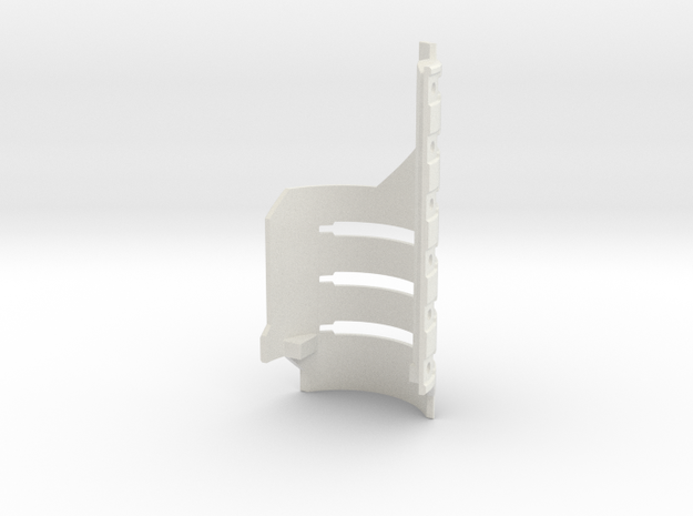 Graflex GMM Chassis - Part17  - Gen Shield in White Natural Versatile Plastic