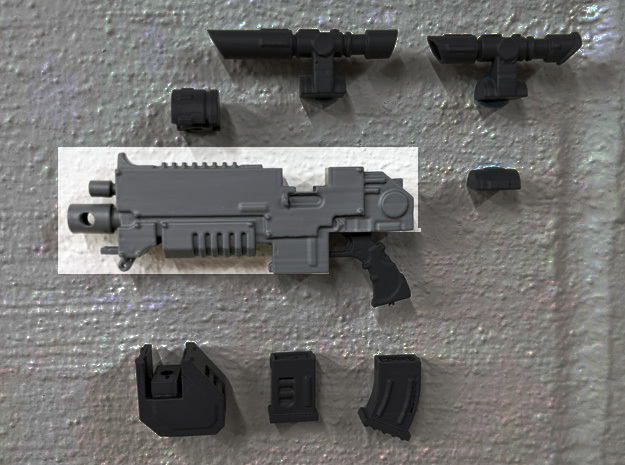 PRHI Large Modular Rifle for Figuarts- Body in White Processed Versatile Plastic