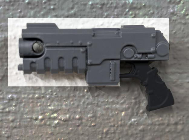 PRHI Large Heavy Pistol- Body in Black PA12
