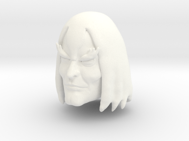 Negator Head in White Processed Versatile Plastic
