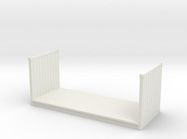 20ft Flatrack Container 1/56 in White Natural Versatile Plastic