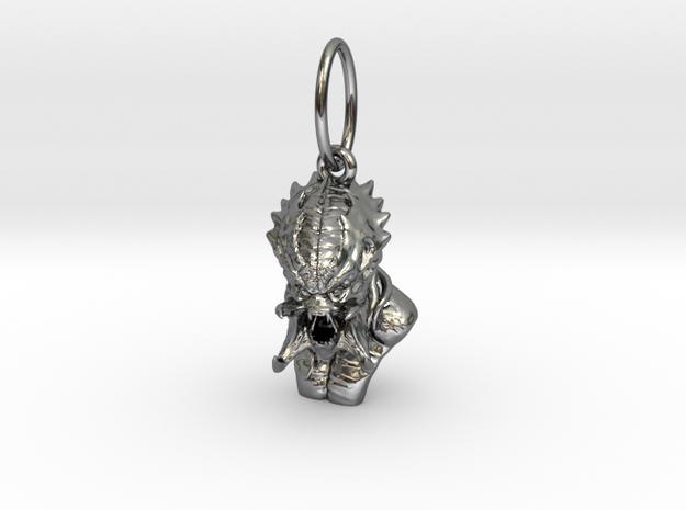 Predator alien pendant  3d printed