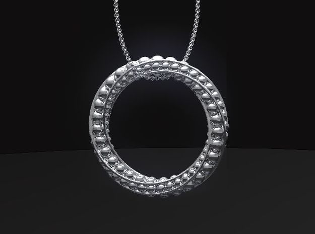 Eternity-boll Pendant in Fine Detail Polished Silver