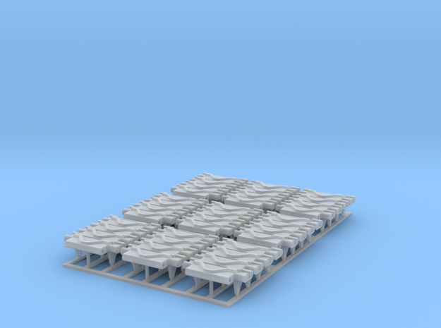 9_Sets Of 4_T74 Track_Links in Smooth Fine Detail Plastic