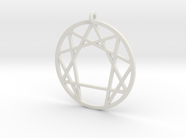 Holy Mountain Pendant Large in White Natural Versatile Plastic