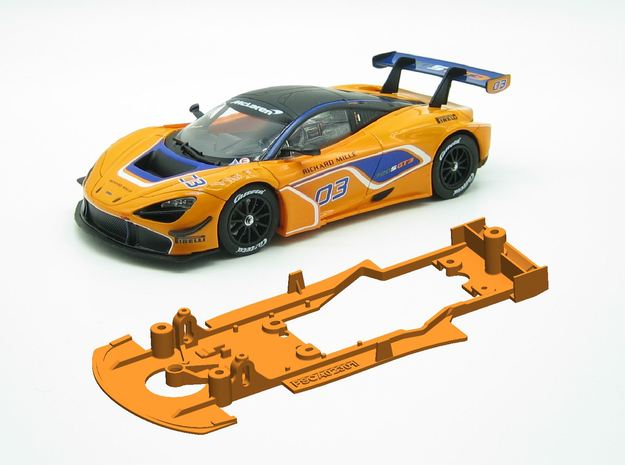 PSCA023001 Chassis for Carrera McLaren 720S GT3 in White Natural Versatile Plastic