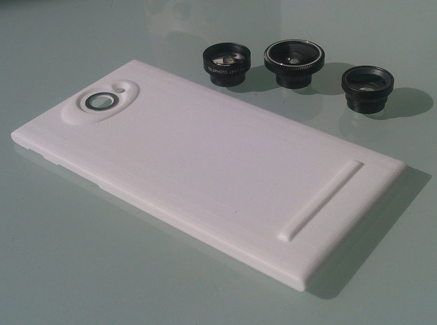 The Other Side Magnetic Lens for Jolla phone in White Strong & Flexible Polished
