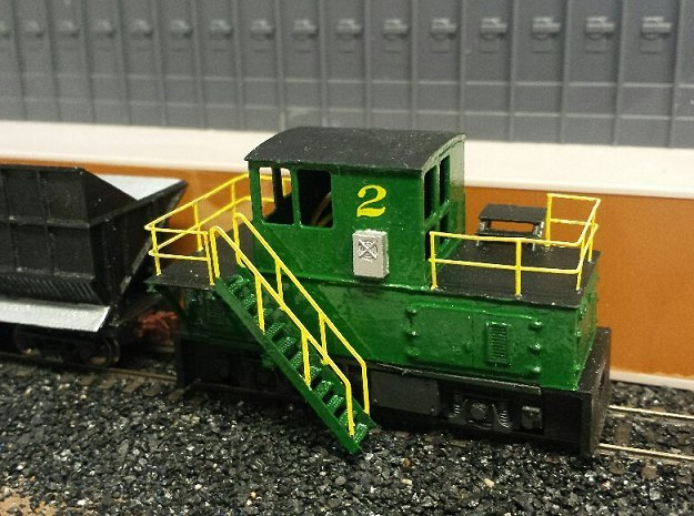 N-scale quench locomotive (LEFT-hand version) in Smooth Fine Detail Plastic