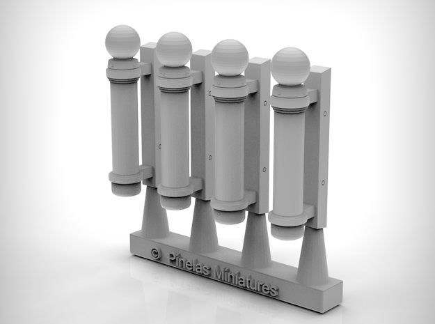 Barber Shop Sign 01. 1:87 Scale (HO) x4 in Smooth Fine Detail Plastic