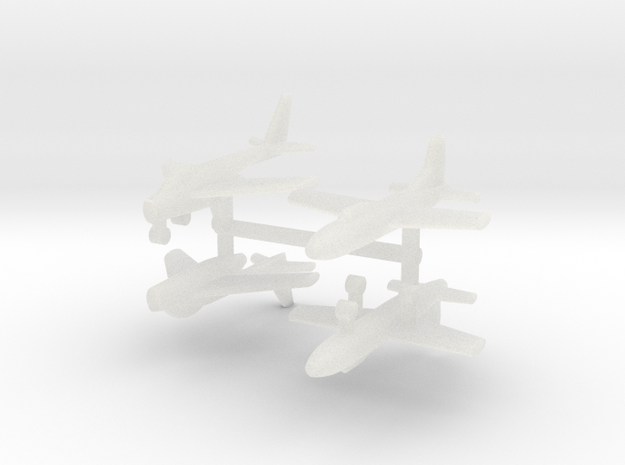 1/700 Experimental Aircraft Set 6 in Smooth Fine Detail Plastic