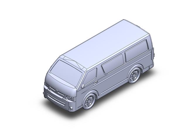 Toyota Hiace H200 LWB Van ~2013 in Smoothest Fine Detail Plastic: 1:160 - N